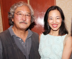 National Geographic photographer Michael Yamashita and Lia Chang at the opening reception of the AAJA convention at The New York Hilton on August 21, 2013. Photo by Stan Honda