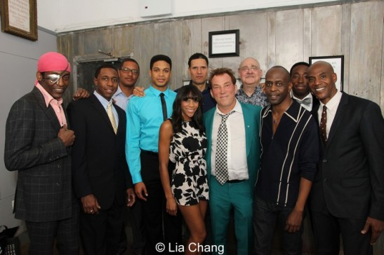 Michael Olajide Jr., Anthony Gaskins, Ray Fisher, Justin Ellington, Nikki M. James, Will Power, Des McAnuff, Richard Masur, K. Todd Freeman, Jeremy Tardy and John Earl Jelks. Photo by Lia Chang