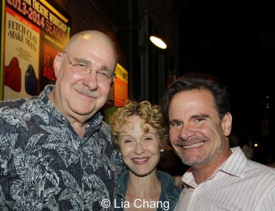 Richard Masur and Peter Scolari. Photo by Lia Chang
