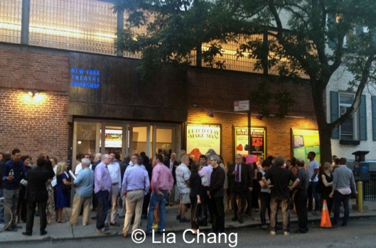 Opening night audience for Fetch Clay, Make Man at New York Theatre Workshop on September 12, 2013. Photo by Lia Chang