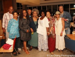 Seret Scott, Regina Taylor, Arthur French, Novella Nelson Latanya Richardson Jackson, Lizan Mitchell, Denise Burse and Charles Turner at The Pershing Square Signature Center in New York after an alumni performance of stop.reset. on August 25, 2013. Photo by Lia Chang