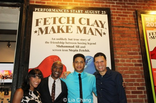 Nikki M. James, John Earl Jelks, Ray Fisher and Will Power. Photo by Lia Chang