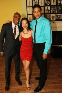 John Earl Jelks, Lia Chang and Ray Fisher. Photo by Charles Richard Barboza