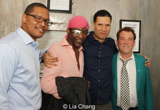 Julius Ellington, Michael Olajide Jr., Will Power and Des McAnuff.  Photo by Lia Chang