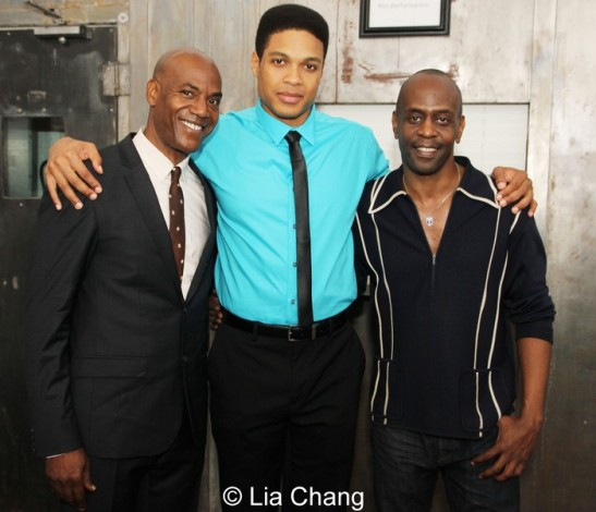 John Earl Jelks, Ray Fisher and K. Todd Freeman. Photo by Lia Chang