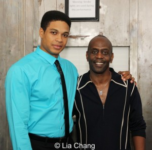 Ray Fisher and K. Todd Freeman. Photo by Lia Chang