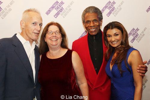 Larry Yando (Shere Khan), Mary Zimmerman (Director/Playwright), André De Shields (Akela/King Louie) and Anjali Bhimani (Mother Wolf). Photo by Lia Chang