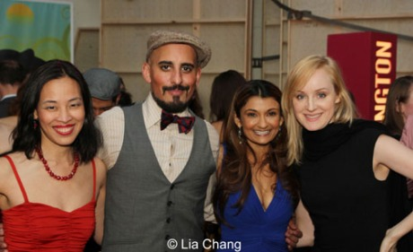 Lia Chang, Nehal Joshi (Rama (a wolf and others), Anjali Bhimani (Raksha (a wolf and others) and Erin Davie. Photo by Lia Chang