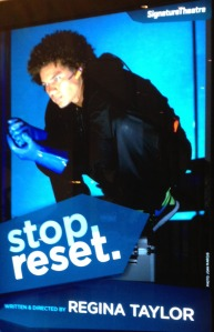 Ismael Cruz Cordova in stop. reset, written and directed by Regina Taylor. Photo by Joan Marcus