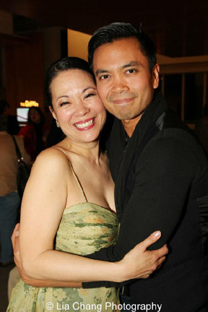 Christine Toy Johnson and Jose Llana. Photo by Lia Chang