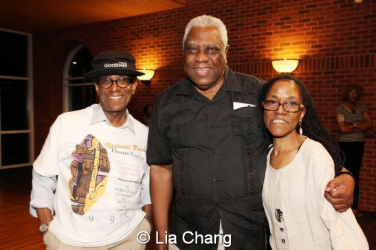 Director Chuck Smith, Woodie King Jr. and Patricia White. Photo by Lia Chang