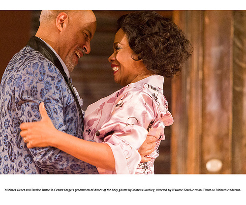 Denise Burse and Michael Genet in Center Stage's production of dance of the holy ghosts by Marcus Gardley, directed by Kwame Kwei-Armah. © Richard Anderson