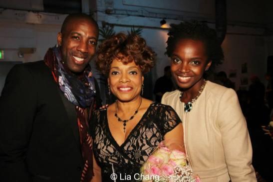 Jeremiah Abiah, Denise Burse and MaameYaa Boafo Abiah. Photo by Lia Chang