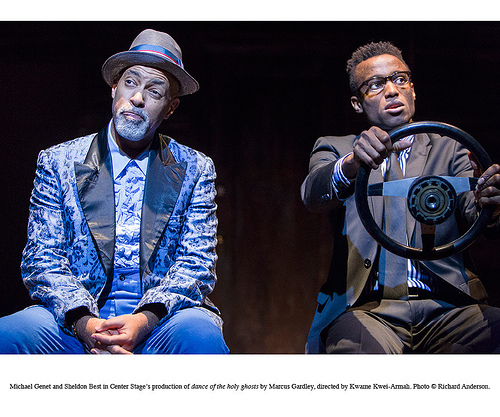 Michael Genet and Sheldon Best in  Center Stage's production of dance of the holy ghosts by Marcus Gardley, directed by Kwame Kwei-Armah. © Richard Anderson