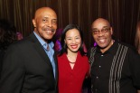 Roscoe Orman, Lia Chang and Phil Young at Mist in New York on July 26, 2013 after a VIP dress rehearsal of Power Play. Photo by Manu Narayan