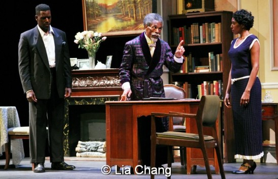 Sean Phillips, André De Shields and Erin Cherry. Photo by Lia Chang