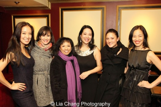 Jaygee Macapugay and Ali Ewoldt with Baayork Lee, Christine Toy Johnson, Diane Phelan and Lia Chang.