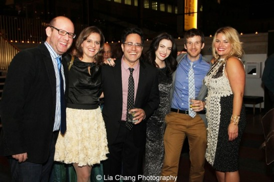 Scott Rothman, Jen Rothman, Rajiv Joseph, Lauren McFall, Brad Fleischer and Allison Thiel. Photo by Lia Chang