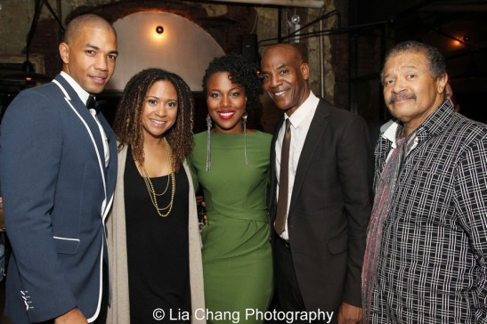Alano Miller, Tracie Thoms, DeWanda Wise, John Earl Jelks and Count Stovall. Photo by Lia Chang