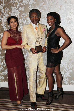 The Jungle Book's Alka Nayyar, Jeff Award winner  André De Shields, and Monique Haley. Photo by Lia Chang