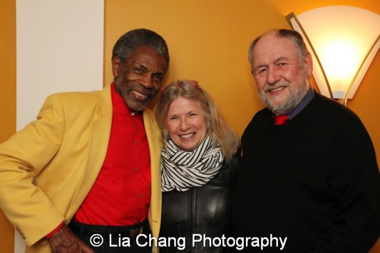 André De Shields, Marcelle McVay and her husband Dennis Zacek. Photo by Lia Chang