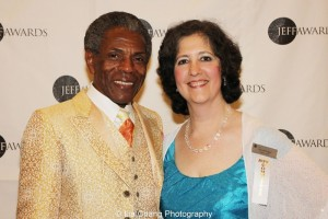 André De Shields and Merril Prager, Equity Wing Chair of the Jeff Committee. Photo by Lia Chang
