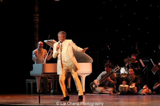 """André De Shields performs """"I Wanna Be Like You"""" with The Jungle Book Orchestra, led by musical director Doug Peck, at the 45th Annual Equity Jeff Awards at Drury Lane Oakbrook on November 4, 2013. Photo by Lia Chang"""