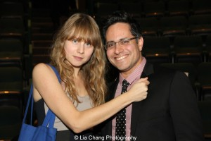 Annie Baker and Rajiv Joseph, 2013 Steinberg Playwright Award Honorees. Photo by Lia Chang