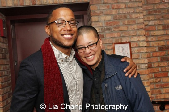 Branden Jacobs-Jenkins and Eric Ting. Photo by Lia Chang