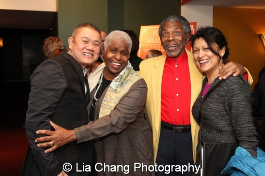 Chay Yew, Cheryl Lynn Bruce André De Shields and Sandra Marquez. Photo by Lia Chang