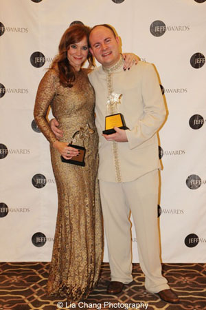 Jeff Award winners Christine Sherrill (Actress in a Principal Role-Musical, Sunset Boulevard, Drury Lane Productions) and Doug Peck (Music Direction, The Jungle Book, Goodman Theatre in association with Huntington Theatre Company) Photo by Lia Chang