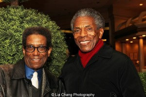 Chuck Smith, resident director, Goodman Theatre and André De Shields. Photo by Lia Chang