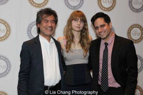 David Henry Hwang, Michael A. Steinberg, Annie Baker and Rajiv Joseph. Photo by Lia Chang