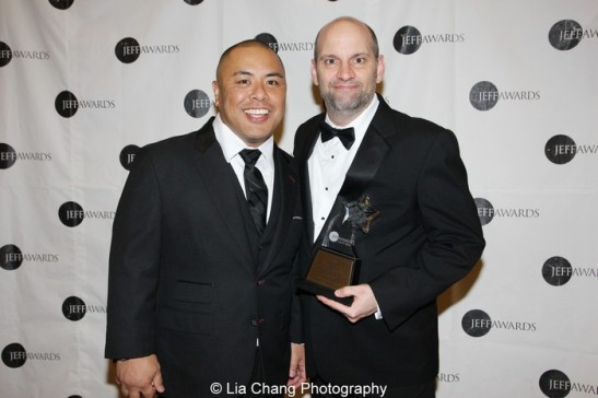 George Dante M. Pineda and Jeff Award winner Bill Larkin (Actor in a Principal Role-Musical for A Class Act, Porchlight Music Theatre). Photo by Lia Chang