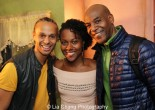 Sunset Baby castmembers Harvey Gardner Moore, DeWanda Wise and John Earl Jelks after the first preview of Sunset Baby at Bank Street Theater in New York on November 6, 2013. Photo by Lia Chang
