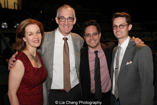 Jennifer Dorr White, John Clinton Eisner, Rajiv Joseph and Michael Robertson at the 2013 Steinberg Playwright