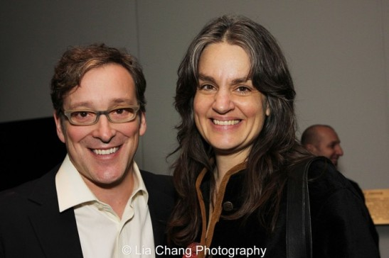 Jeremy Shamos and Pam MacKinnon. Photo by Lia Chang