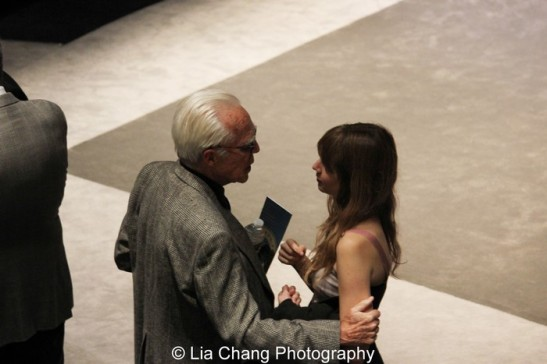 John Guare and Annie Baker. Photo by Lia Chang