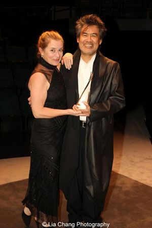 Kathryn Layng and her husband David Henry Hwang, 2012 Steinberg Distinguished Playwright Honoree. Photo by Lia Chang