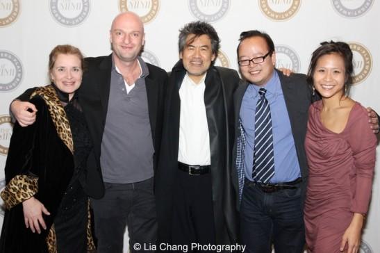 Kathryn Layng, Matthew Maher, David Henry Hwang, Jeff Yang and May Adrales. Photo by Lia Chang