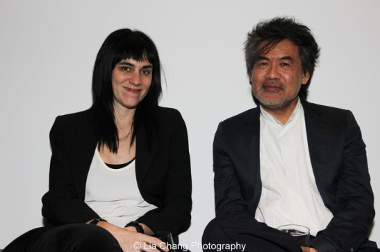 Leigh Silverman and David Henry Hwang. Photo by Lia Chang