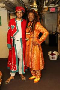 Neel Murgai and Andre De Shields backstage at The Huntington Theatre's co-production of the Mary Zimmerman adaptation of The Jungle Book in Boston on September 5, 2013.