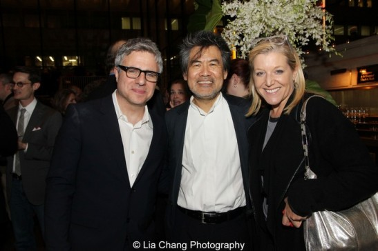 Neil Pepe, David Henry Hwang and Mary McCann. Photo by Lia Chang