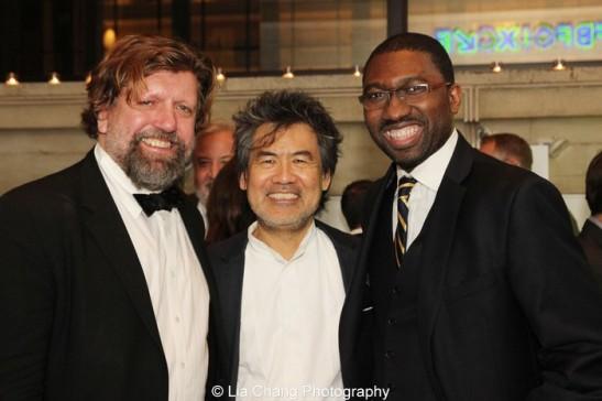 Oskar Eustis, David Henry Hwang and Kwame Kwei-Armah. Photo by Lia Chang