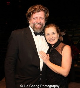 Oskar Eustis and Kathryn Layng. Photo by Lia Chang