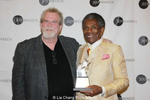 Steve Scott, resident director, Goodman Theatre and Jeff Award winner André De Shields. Photo by Lia Chang