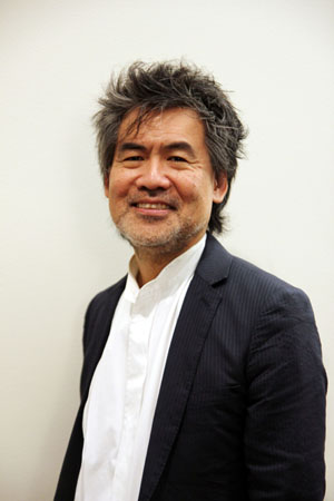 """David Henry Hwang at the 6th Annual Steinberg """"Mimi"""" Playwright Awards in the Vivian Beaumont Theater lobby at Lincoln Center in New York on November 18, 2013. Photo by Lia Chang"""