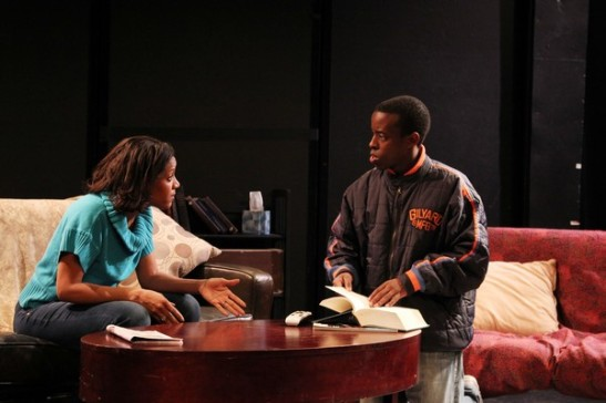 Tracey Conyer Lee and Matthew Murumba in Camille Darby's Lords Resistance at the Kraine Theater through January 31, 2014. Photo by Lia Chang