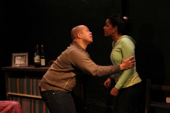 Lelund Durond and Tracey Conyer Lee in Camille Darby's Lords Resistance at the Kraine Theater. Photo by Lia Chang