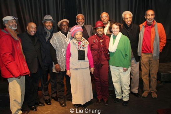 Basir Mchawi, Phil Young, Roscoe Orman, Ron Bobb Semple, Rome Neal, Amy Olatunji, Imani Parker, George Miles, Linda Armstrong, Harold Valle and Hank Smith. Photo by Lia Chang